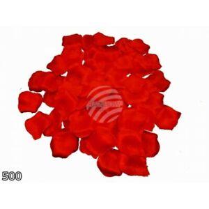 500 Pétales Artificiels Rose Rouge Tissu Mariage Anniversaire Valentin Romantiqu