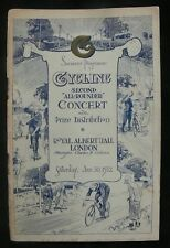 "Cycling 1932 Second ""All Rounder"" Concert Programme - Royal Albert Hall"