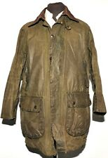 GREAT MEN'S BARBOUR BORDER WAX JACKET C42 / 107CM GREEN A200 THREE CREST