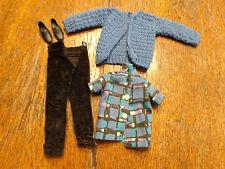 VINTAGE BARBIE KEN SIZED HOMEMADE/CLONE SWEATER PANTS & SHIRT SHOES