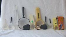 VINTAGE LOT OF 11 MAGNIFYING GLASSES OF DIFFERENT SHAPES & SIZES - ESTATE FIND!