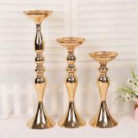 Gold Decorative Wedding Flower Decor Candle Holder Tall Vase Centerpiece
