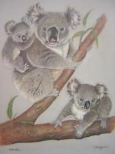 Charleyn Koala Family Eucalyptus Tree Signed Limited Edition Art Print