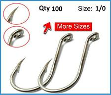 100 X 1/0 Chemically Sharpened Octopus / Beak Hooks Tackle Fishing Bait Jig