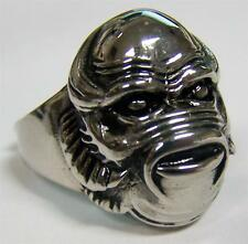 THE SWAMP THING MONSTER STAINLESS STEEL RING size 8 - S-543 biker  MENS womens