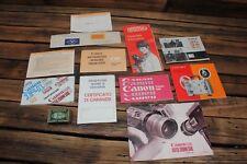 Vintage Film Camera Canon Instruction Manual Warranty Eumig Kodak Super 8