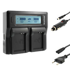 BATTERIA Caricabatterie Dual Charger per Canon nb-10l | g10 g15 g16 g1 x g3 x | 90344