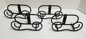 Lot Of 4 Black Plate Easel -  Mount on Wall Design - Freestanding