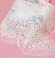 Crochet Pattern- Baby Crochet shawl Pattern- Advanced crocheters-4ply with chart