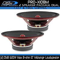 10″ Midrange Speaker 1200W 8 Ohm Pro Car Audio Mid Bass 1 Pair DS18 PRO-X10BM