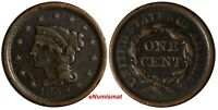 US Copper 1852 Braided Hair Large Cent 1 c. (17 001)