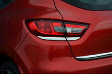 Chrome posteriore Fanale posteriore circonda trim copre set per adattarsi RENAULT CLIO IV (2012+)