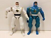 Vintage Bandai 1995 Mighty Morphin Power Rangers White & Blue Ninja Rangers Lot