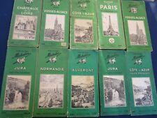 10 Livres Guides vert touristique Pneu MICHELIN Régions de France 1948 à 1963