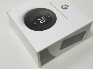 NEW SEALED! Black Google Nest 3rd Generation Programmable Thermostat Kit T3016US