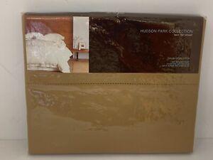 NEW Hudson Park 600 TC Solid 100% Egyptian Cotton TWIN Flat Sheet BRONZE BVP