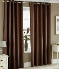 New Polyester 2 Piece Door Curtain Set - Coffee, 4 x 7 ft
