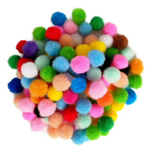 2000X DIY Mixed Color Mini Soft Fluffy Pom Poms Pompoms Ball 8mm for Kids Craft
