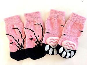 Dog Puppy Anti-slip Socks - For Tiny & Small Breeds - Pink