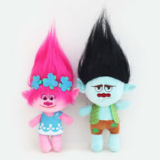 "HOT Sale 2Pcs Movie Trolls Poppy & Branch Hug 'N Plush Doll Toy Set Gift 9"" 23CM"