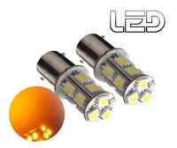 2 Ampoules BA15s P21w Orange 13 LED