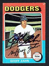 Geoff Zahn #294 signed autograph auto 1975 Topps MINI Baseball Trading Card