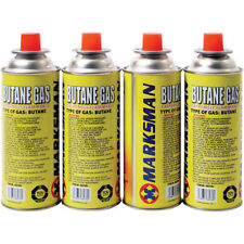 4 X BUTANE GAS CANISTERS BOTTLE CAMPING PORTABLE GRILLS HEATERS AND FLAMES