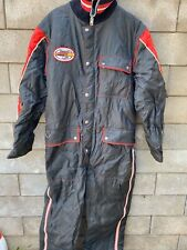 Vintage Yamaha Snowmobile Suit Snowsuit Black Red Insullated Logo Retro L Or XL