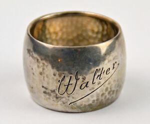 Serviettenring Walter antik 835 Silber Krone Halbmond