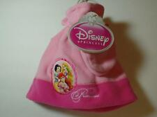 New Girl's Pink Fleece Disney Princess Tassel Hat & Mittens Set, One Size