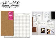 Midori Free Diary Daily | Refill Midori 005 | Traveler's Notebook Regular Size
