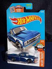 Hot Wheels 2016 Hot Trucks Series #143 '67 Chevy C10 Pick Up Blue w/ MC5s