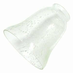 """Westinghouse 8109500 2-1/4"""" Clear Seeded Bell Lamp Shade"""