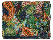 Bedding Decorative Kantha Quilts Indian Handmade Blanket Bed Cover Throw Gudri
