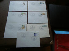 FRANCE - 7 enveloppes 1985/1986 (cy47) french