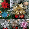 10x Glitter Xmas Hollow Flower Christmas Tree Hanging Ornament Party Home Decor