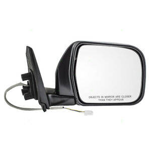 New Passengers Power Side View Mirror Glass Housing Chrome for 93-98 Toyota T100