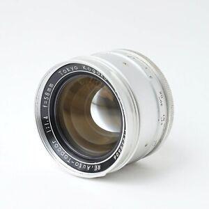 TOPCON RE Auto-Topcor 58mm f/1.4 Tokyo Kogaku Japan SLR Lens