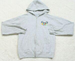 Disneyland Resort Gray Woman's Cotton Hooded Sweatshirt Hoodie Womens Large 2005