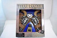 TEXAS RANGER REPEATER PISTOL, DOUBLE HOLSTER SET & BADGE BELT (DIE CAST)  #4618