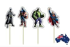 12 x Avengers Super Heroes CUPCAKE CAKE JELLY CUP PAPER TOPPERS Children Party
