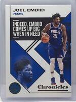 2019-20 Panini Chronicles Teal #9 Joel Embiid Philadelphia 76ers
