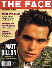 THE FACE April 1991 MATT DILLON Linford Christie TESS DALY Tom Hanks @EXCLT@