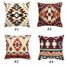 Aztec Geometric Abstract Linen Cotton Cushion Cover Throw Pillowcase Home Decor