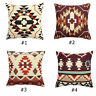 Aztec Geometric Abstract Linen Cotton Cushion Cover Throw Pillowcase Home Decor