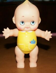 Vintage Kewpie Doll Figurine Rubber Toy Rare Yellow Bathing Suit Moveable Arms