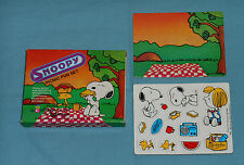 vintage Peanuts SNOOPY PICNIC FUN SET MINI COLORFORMS woodstock
