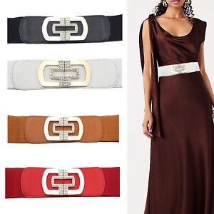 Women Wide Belt Waistband Elastic Waist Closure Dress Buckle for Dresses Gowns
