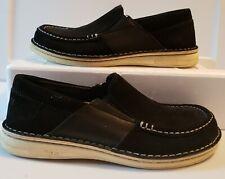 Birkenstock Womens Oiled Black Leather Duma Orthotic Loafers Size 38 US 7 7 1/2