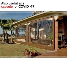 Waterproof Commercial Grade 0.5mm TPU Clear Awning Canopy Patio Enclosure 100%
